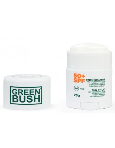 stick solaire spf50 blanc greenbush bio naturel filtre mineral protection visage corps peau sensible soleil