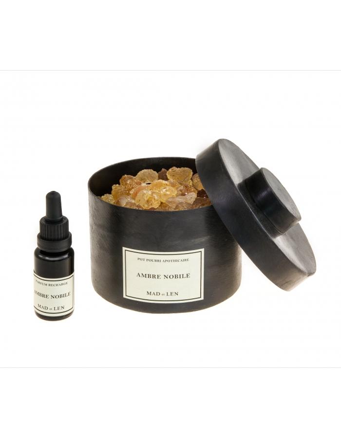 ambre nobile pot pourri mad et len corner  de sophie parfum d'interieur pierre artisanal