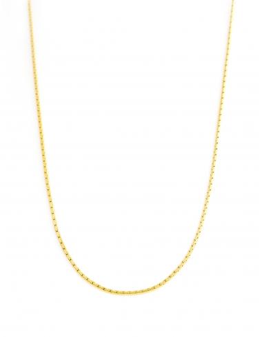 sautoir corner de sophie biarritz maille fine pvd dore collier cadeau bijoux metal