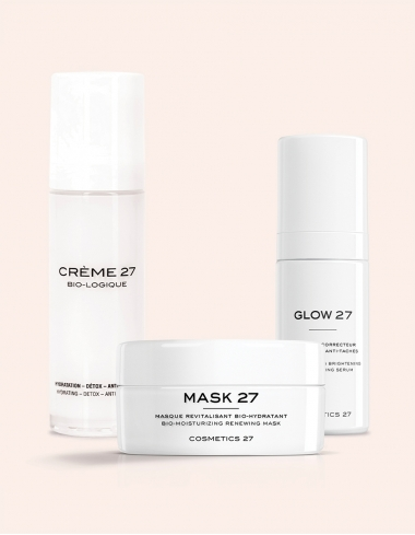 routine super glow creme biologique glow serum mask masque visage cosmetics 27 naturel centella asiatica bonne mine eclat