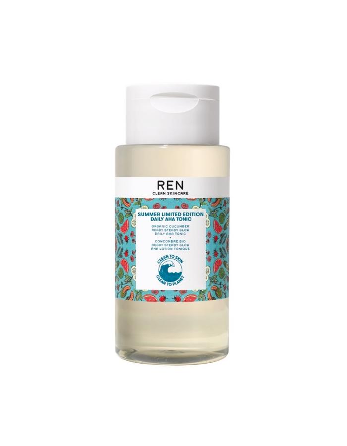 lotion tonique aha acides de fruits concombre edition limitee Ren skincare soin visage corner de sophie biarritz