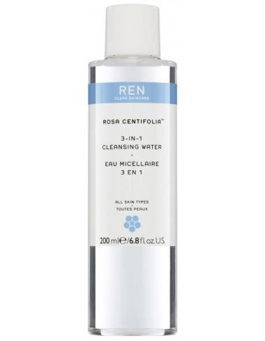 eau micellaire rosa centifolia REN Skincare naturel corner de sophie biarritz demaquillant nettoyant lotion tonique