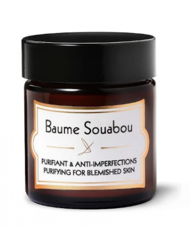 Baume souabou creme matifiante anti imperfections boutons peau grasse purifie matifie acne delbove