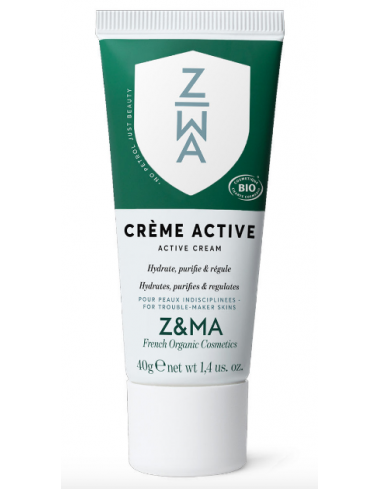 creme active hydrate purifie regule acne z&ma marque francaise corner de sophie biarritz soin visage